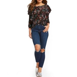 Free People Busted High Waist Skinny Jeans